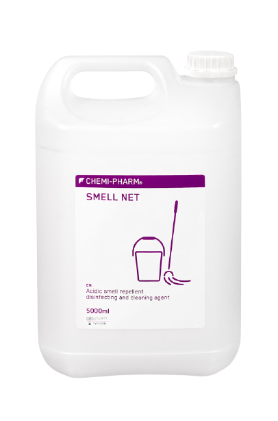 Smakas iznīcinošs skābi saturošs dezinfekcijas līdzeklis virsmām SMELL NET MD 5L