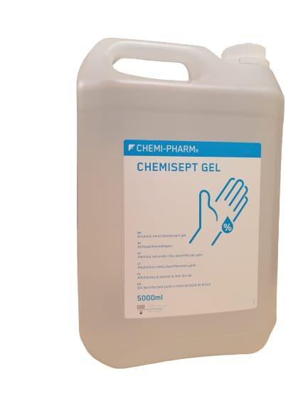Roku dezinfekcijas līdzeklis CHEMI-PHARM -CHEMISEPT GEL 5 Litri