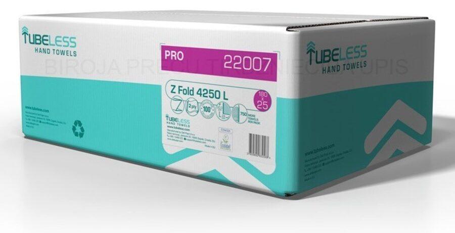 TUBLESS Z FOLD PRO 4250L, Z-locījuma papīra roku salvetes