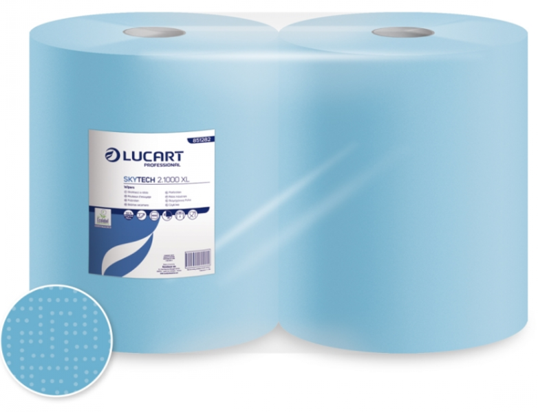 Lucart SKYTECH 2.500XL, industriālais papīrs (zils)