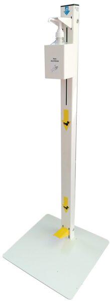 Universāls roku dezinfekcijas līdzekļa stends / statīvs, lietojams ar jebkurš standarta dozators