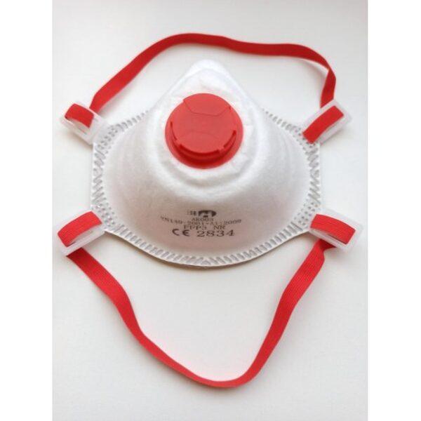 Noliktavā! FFP3 Respirators ar vārstu,  PRAK003