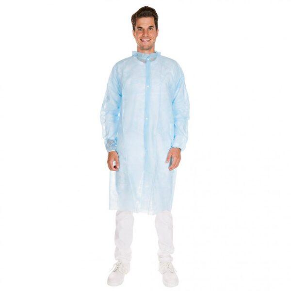 Halāts ar spiedpogām, dažādi izmēri, zils